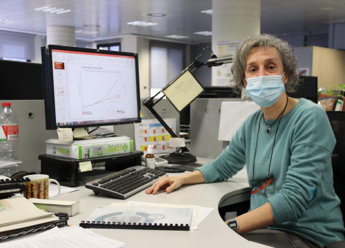 Montserrat Busto from the climate change team of Catalonia's Meteorology Service (by Alan Ruiz Terol)