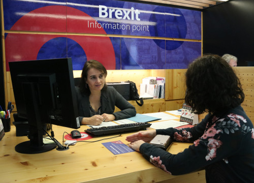 Brexit Information Point, run by Barcelona City Council and Barcelona Activa