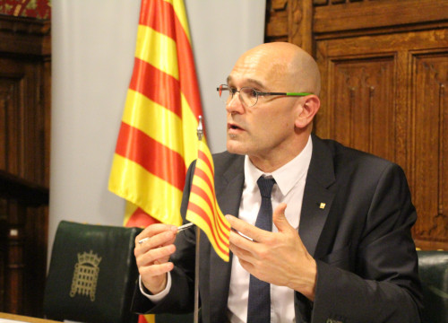 Catalan Minister for Foreign Affairs, Raül Romeva, presented the APPG on Catalonia at Westminster Parliament (by ACN)