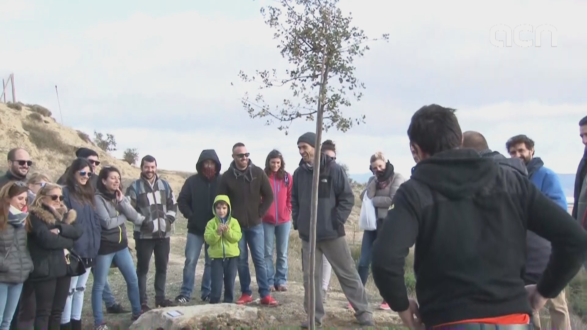 Trees planted in remembrance of Pau Pérez, murdered in aftermath of August terror attack