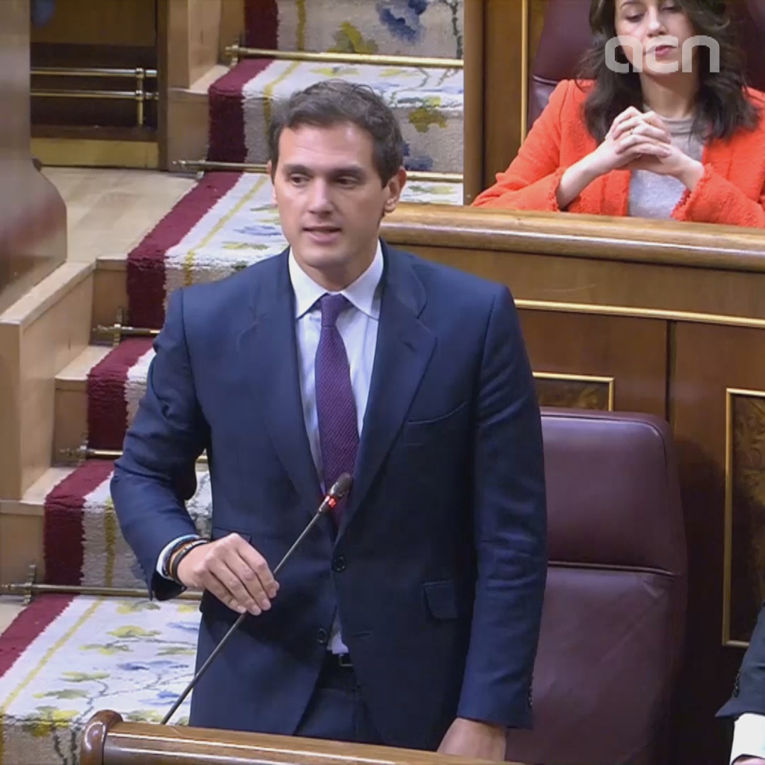 Albert Rivera says congress regulation was violated by Catalan leaders calling themselves 'political prisoners'
