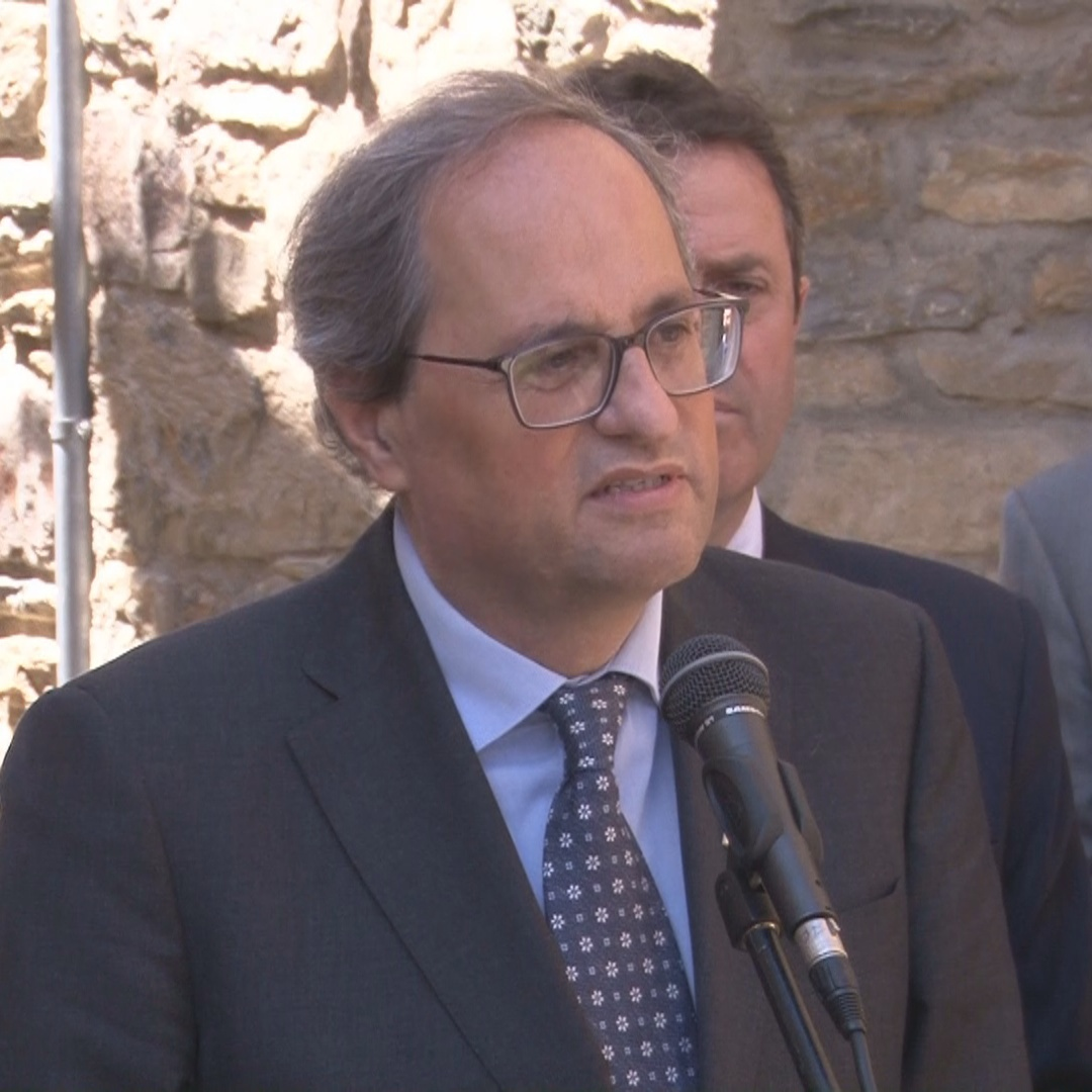 President Quim Torra speaks about Congress speaker Batet and the jailed Catalan MPs