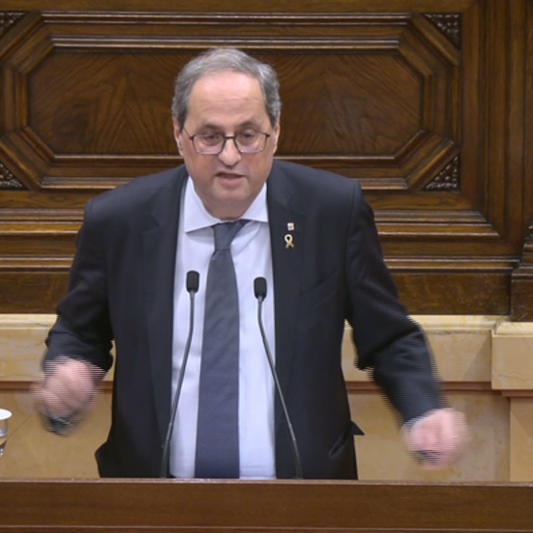 Quim Torra questions how dialogue can be established if he is ousted from office