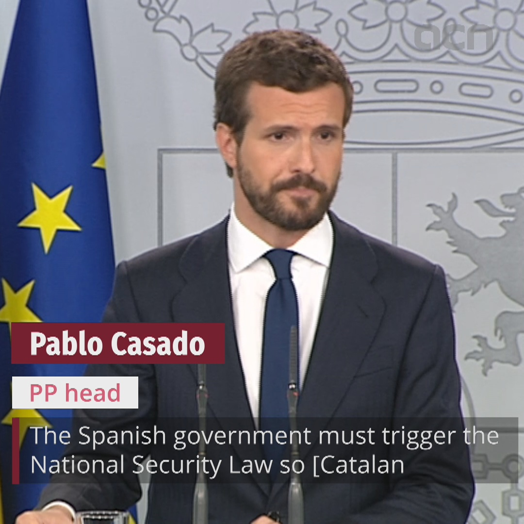 People's Party asks Spanish president to trigger National Security Law