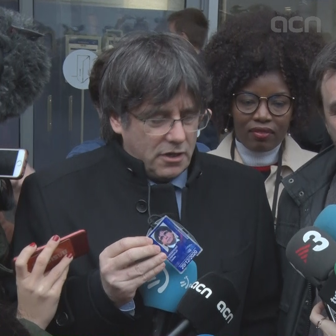 Puigdemont on MEP accreditation: 'It's a great victory for Europe'