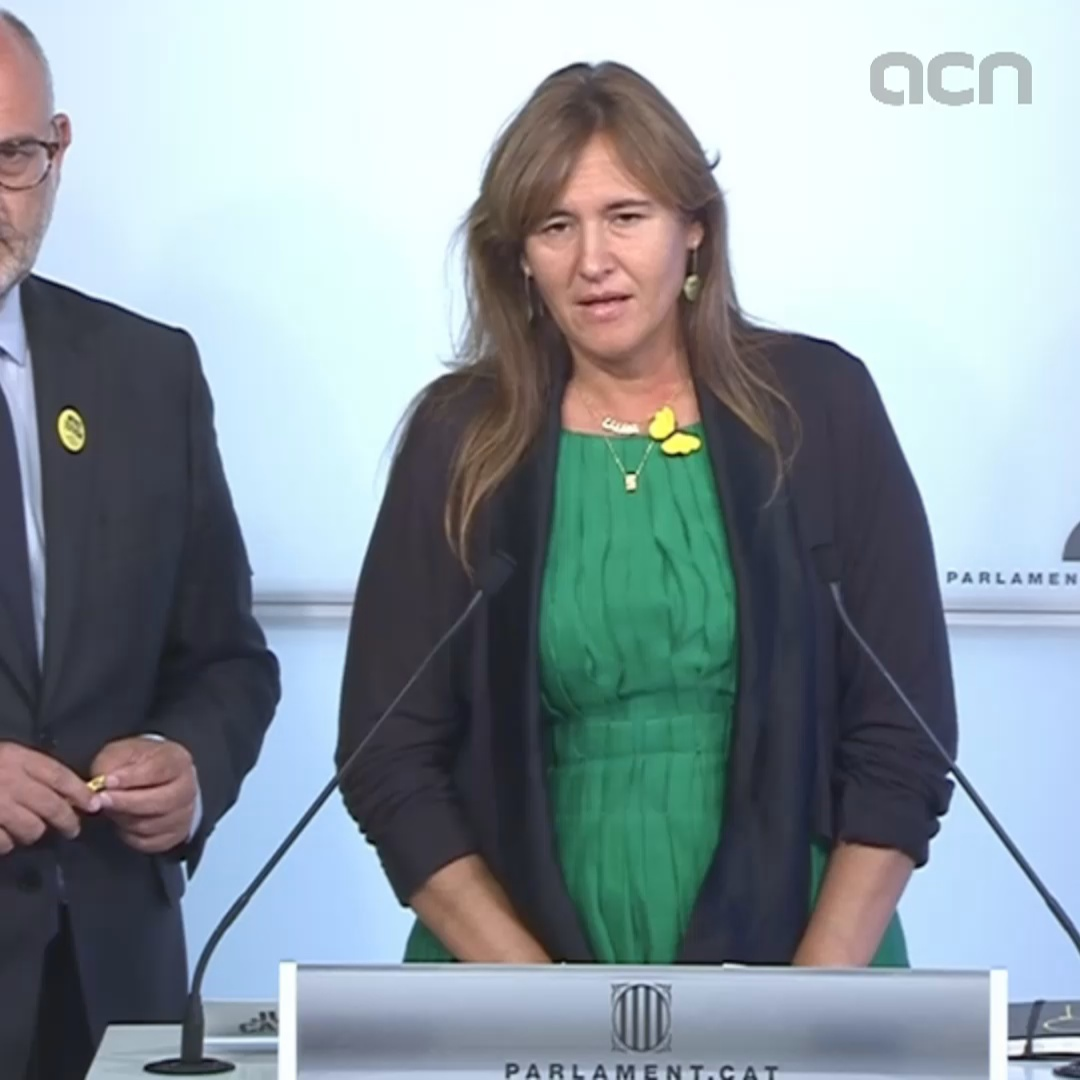 JxCat's Laura Borràs calls claims that Torra and Puigdemont communicated through CDR activists 'ridiculous'
