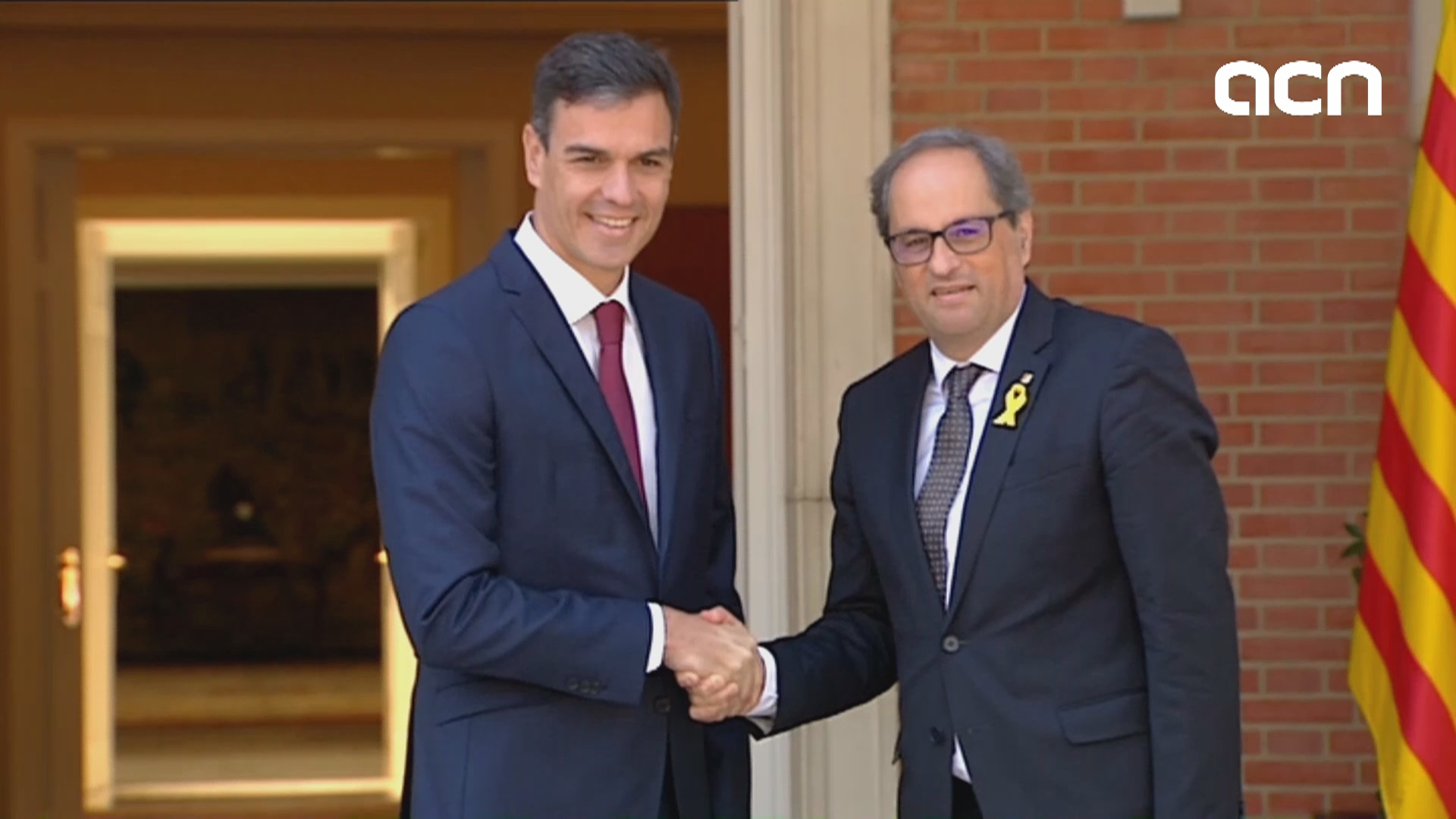 Catalan and Spanish presidents meet