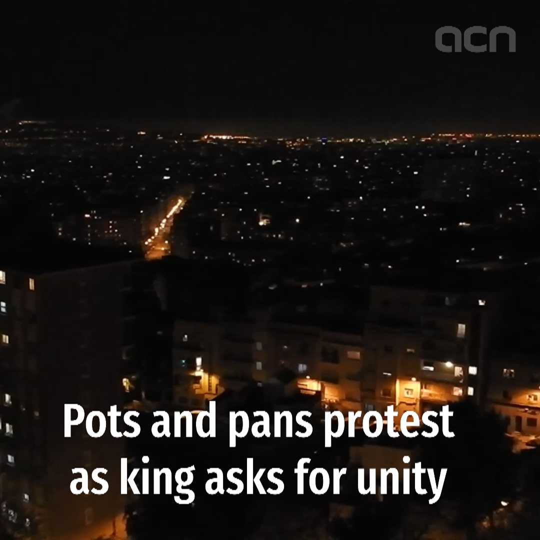 Pots and pans protest during King's speech