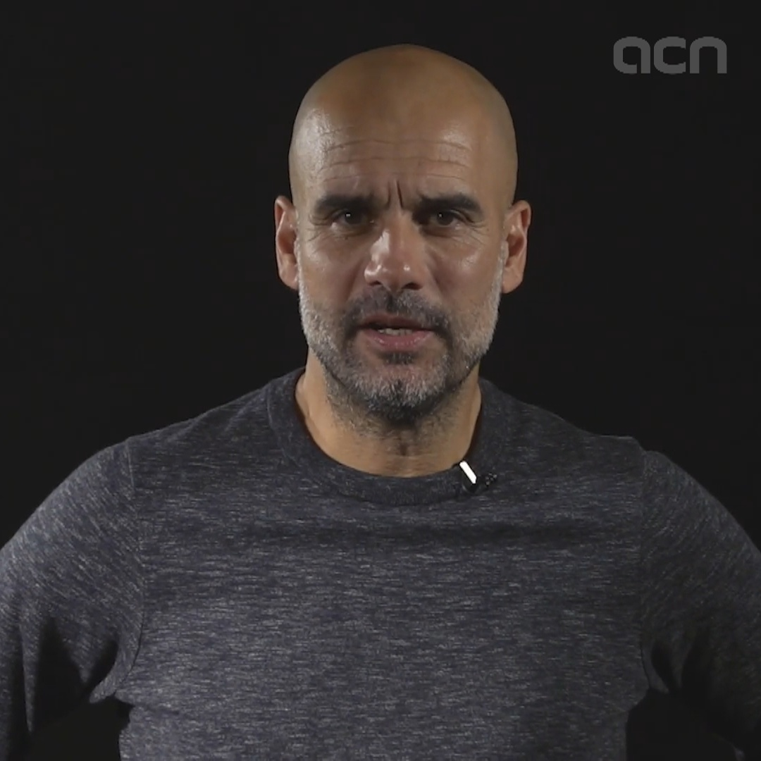 Guardiola reads statement by pro-independence protest group
