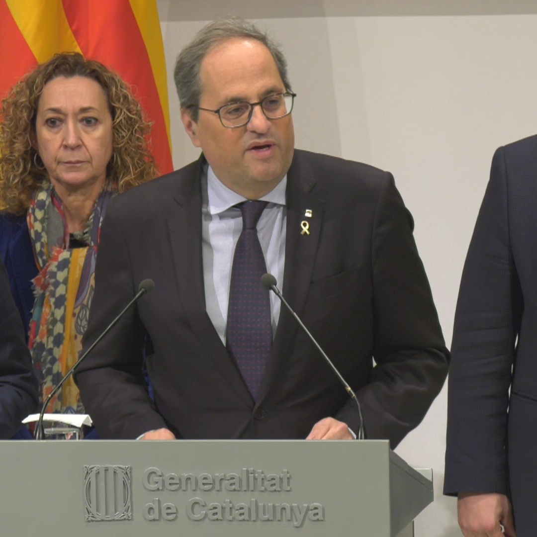 Quim Torra rejects Supreme Court 'attack' expresses he is 'president of Catalonia'