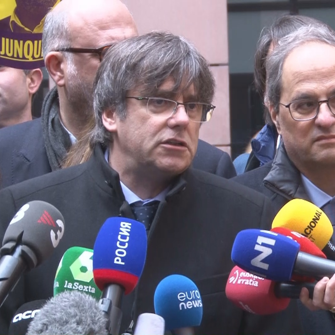 Carles Puigdemont says the Catalan crisis is a European affair ahead of his first plenary session as an MEP