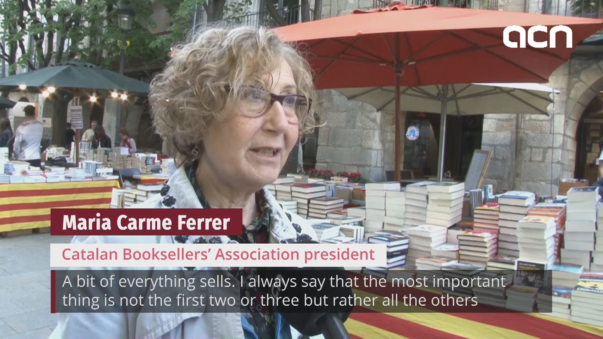 Fine weather on Sant Jordi makes booksellers optimistic