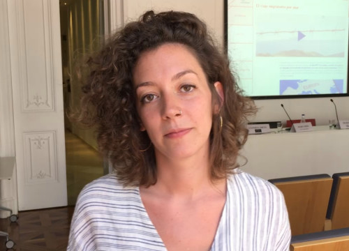 Júlia Trias, technical director at Barcelona-based human rights group Irídia (by ACN)