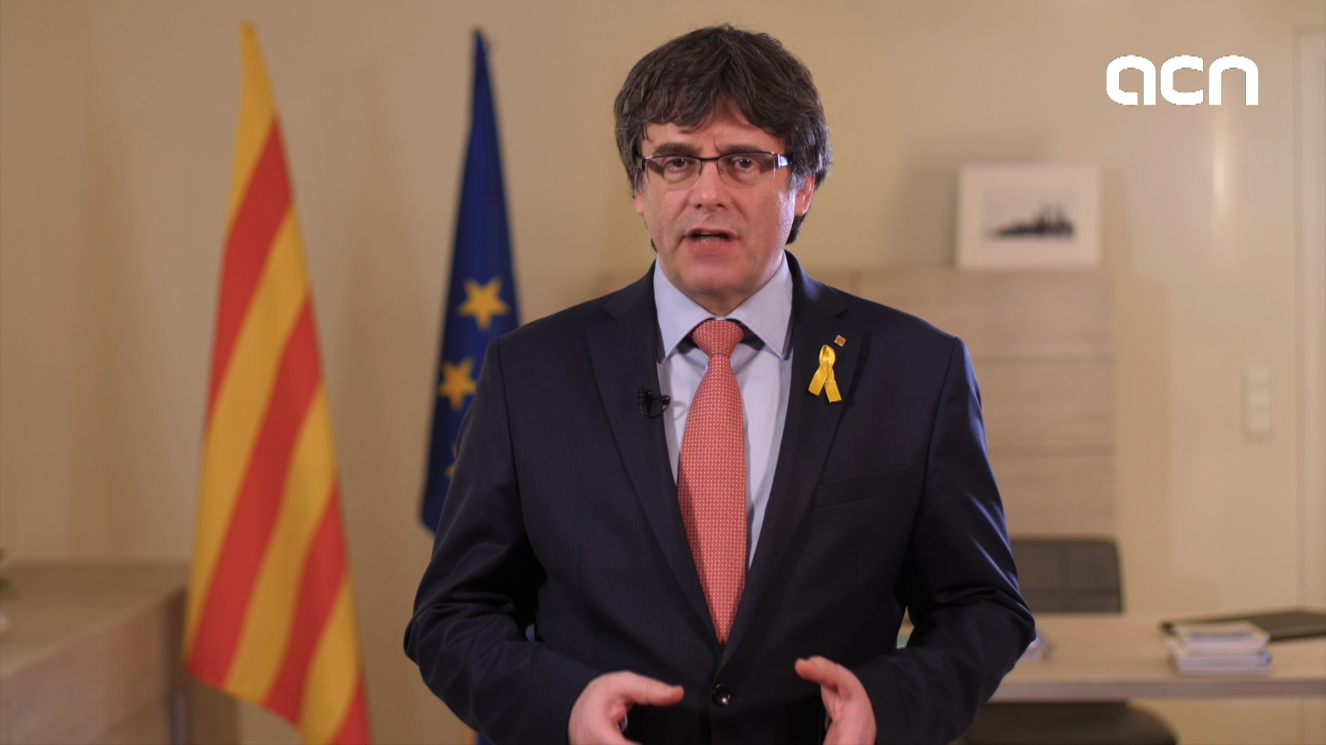 Carles Puigdemont explains in English why he is stepping aside
