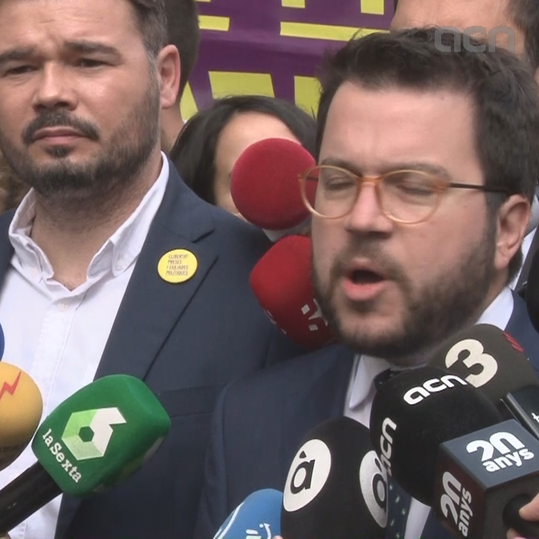 Catalan Vice President describes Junqueras and Romeva at Parliament as a victory against repression