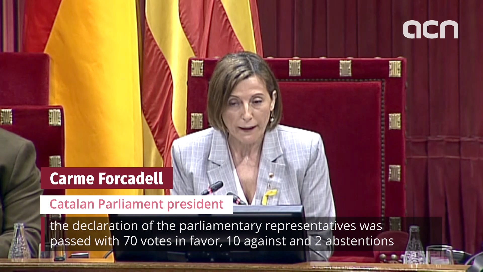 Catalan Parliament declares independence