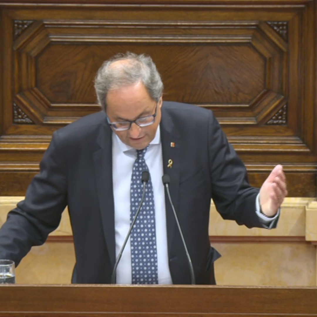 'What do you fear, not having a majority?' - Quim Torra in Parliament