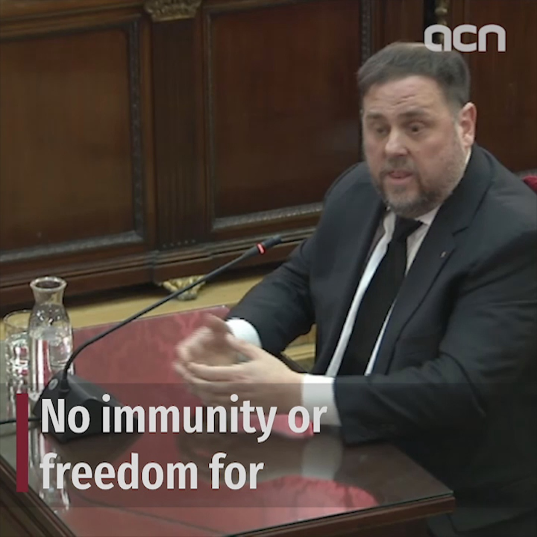 No immunity or freedom for Junqueras