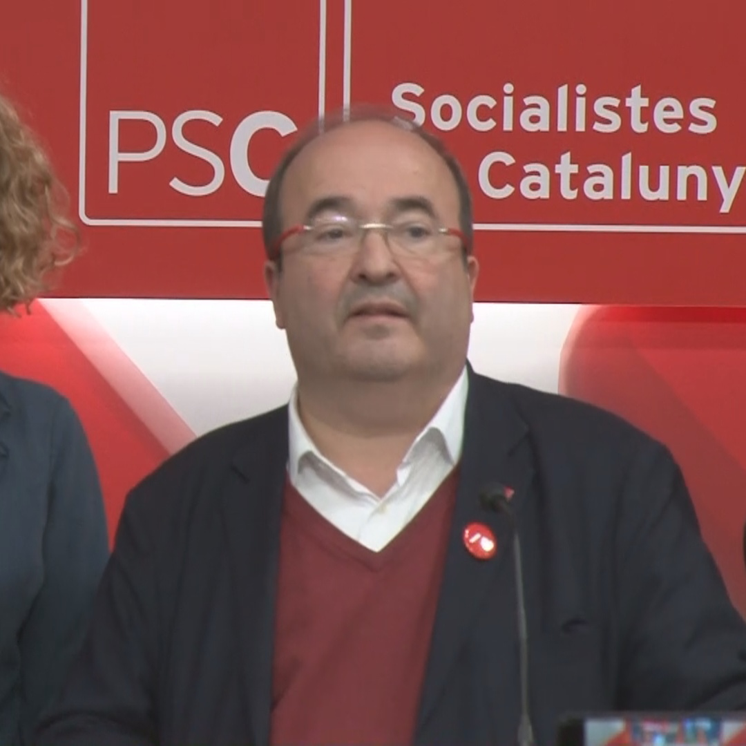 Catalan Socialists celebrate their results in Spain's general election