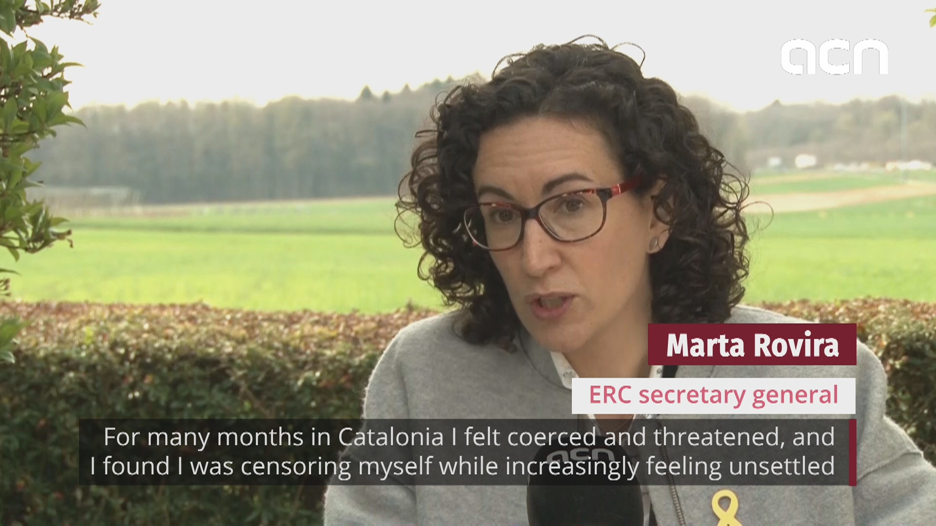 "Marta Rovira breaks silence: ""I'm in Switzerland to keep fighting against a brutal political persecution"""