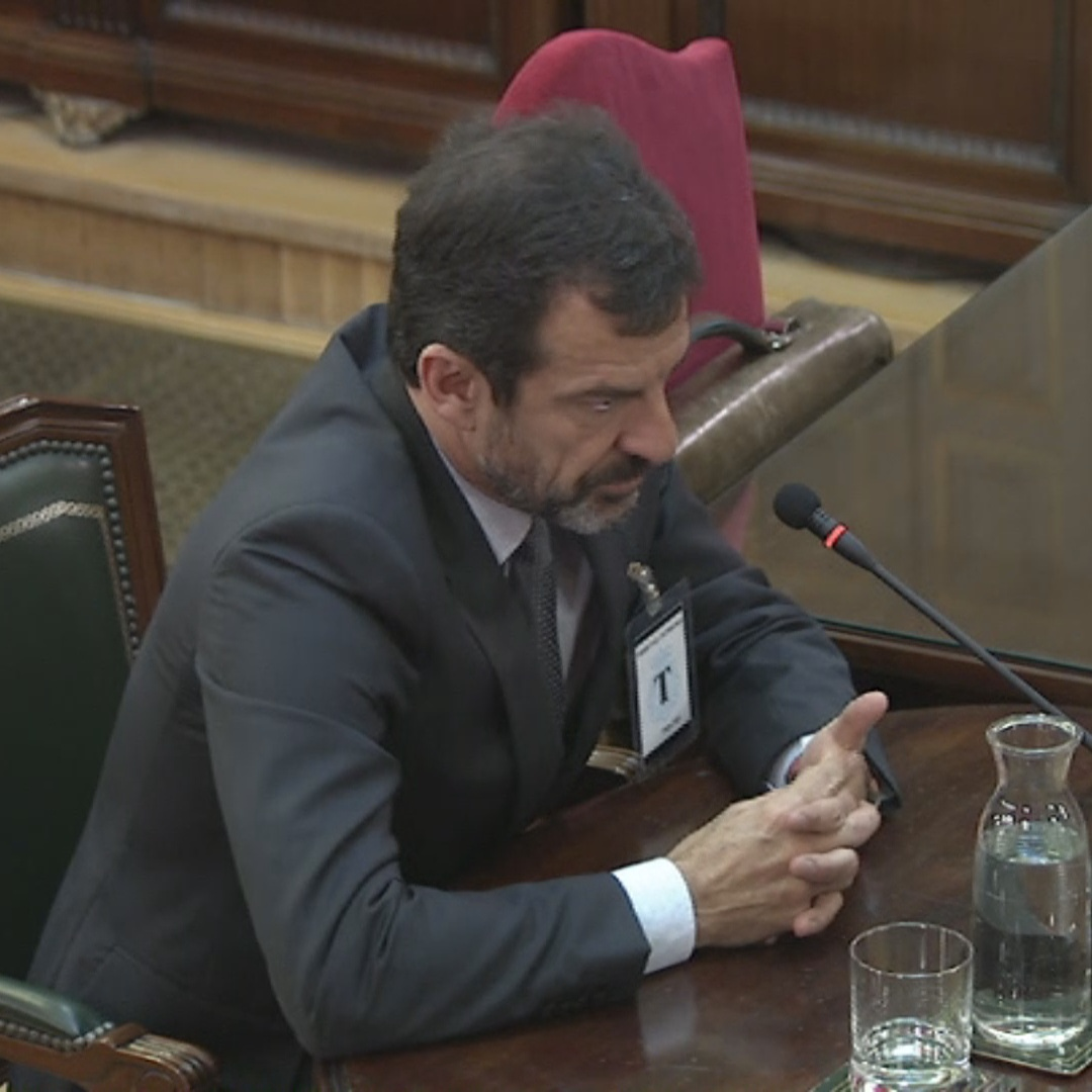 Ferran López says the Catalan police informed the government there would be 'incidents'