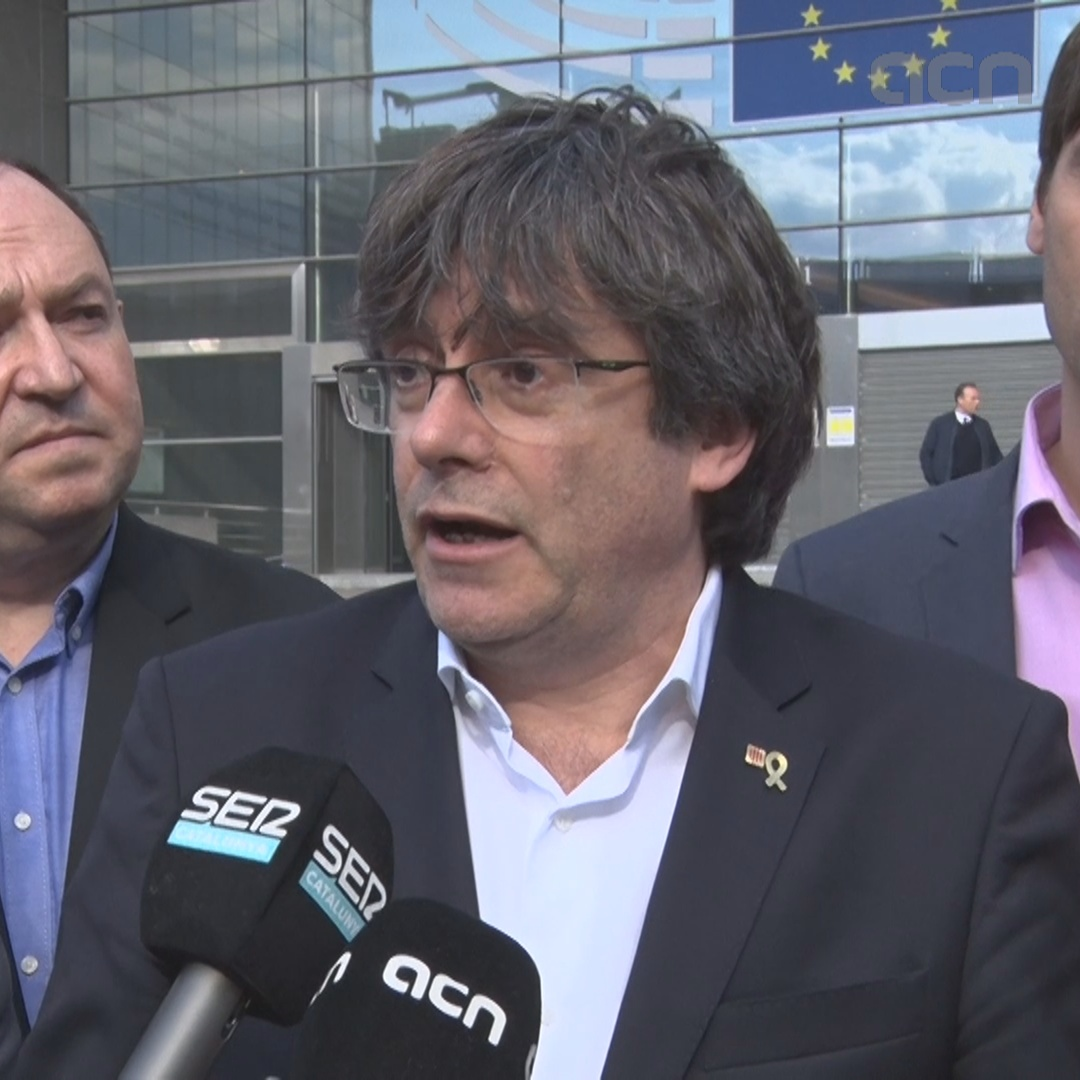 Puigdemont reacts to EU Parliament barring his entry