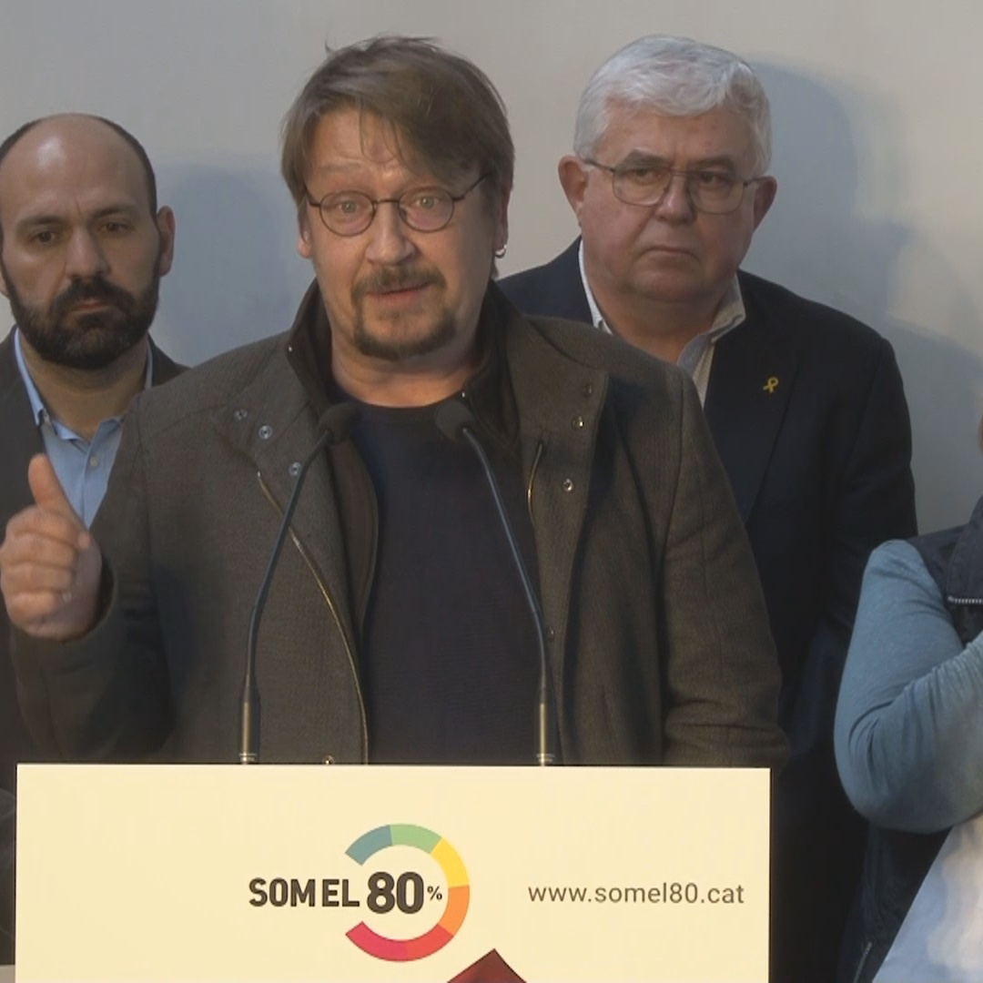Som el 80% call on political parties to respect the will of citizens who want a referendum