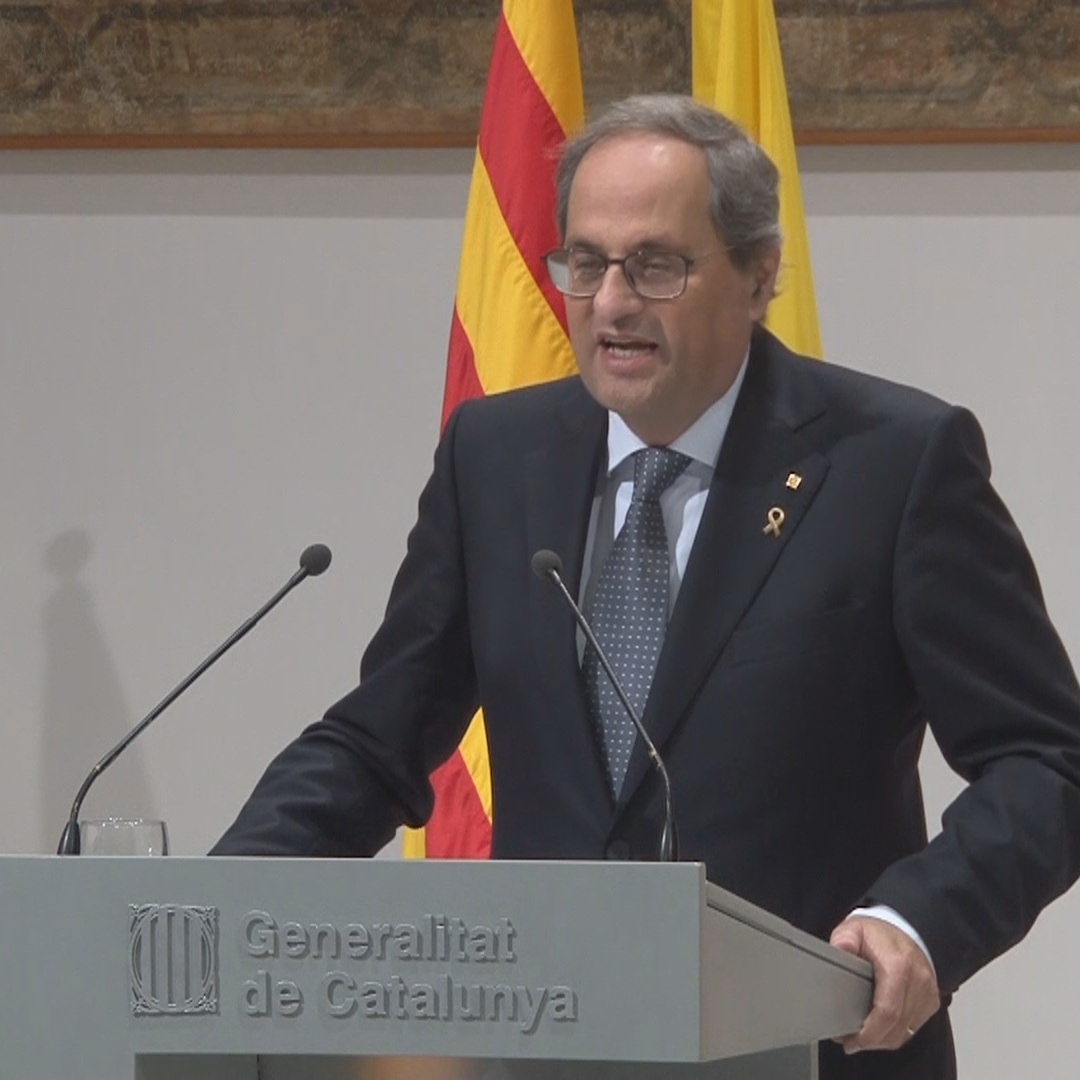 'Freedom and democracy are two sides of the same coin' - Catalan president Quim Torra