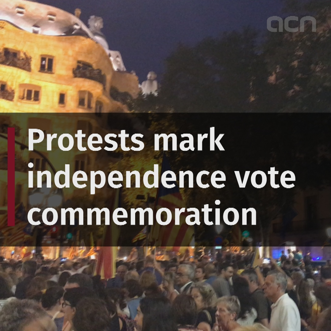 Protests mark independence vote commemoration