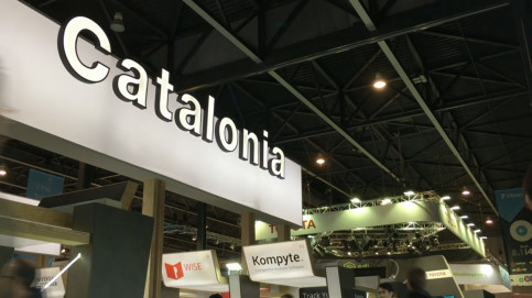 The Catalonia stand at the Mobile World Congress (by ACN)