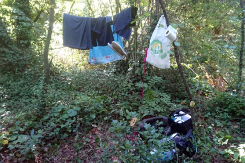 Items left behind by campers at Les Planes d'Hostoles in northern Catalonia (by Les Planes d'Hostoles town council)