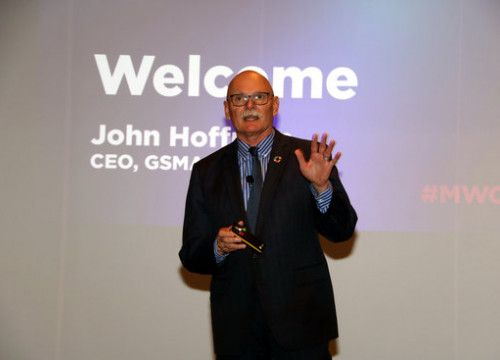 John Hoffmann, CEO of GSMA, the body that organizes the Mobile World Congress (by Marta Casado Pla)