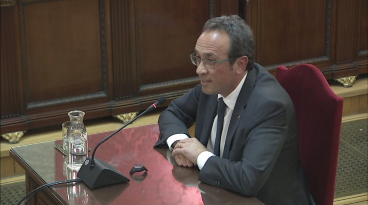 Josep Rull giving his closing statement in Spain's Supreme Court on June 12, 2019 (Supreme Court)