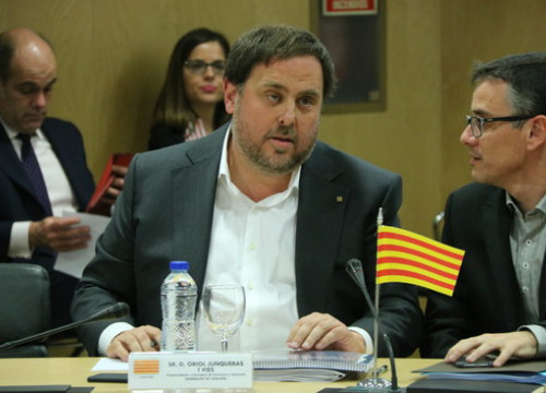 The Catalan Vice President and Minister for Economy and Tax Office, Oriol Junqueras, at the Council on Fiscal and Financial Policies (by ACN)