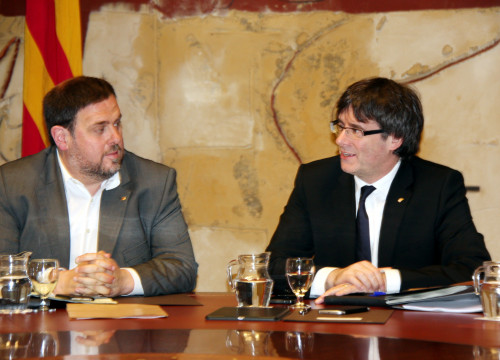 Catalan Vice President and Minister for Economy, Oriol Junqueras and Catalan President, Carles Puigdemont (by ACN)