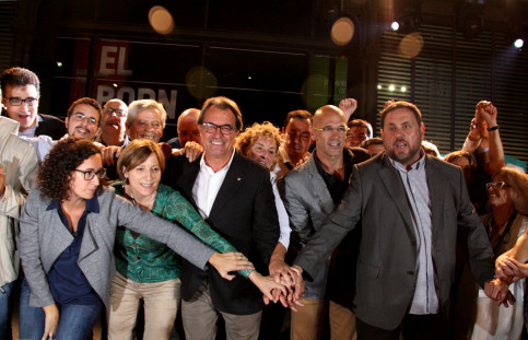 Members of the pro-independence unitary list 'Junts Pel Sí' (by ACN)