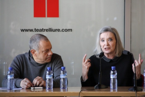 Lluís Pasqual (left) and Núria Espert (right) presenting their King Lear (by P. Cortina)