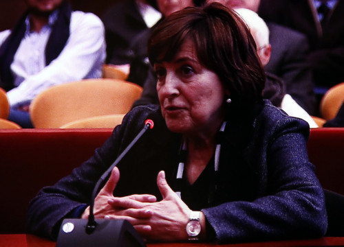 Former director of Barcelona's Department for Education, Montserrat Llobet, testifying before Barcelona's High Court (by ACN)