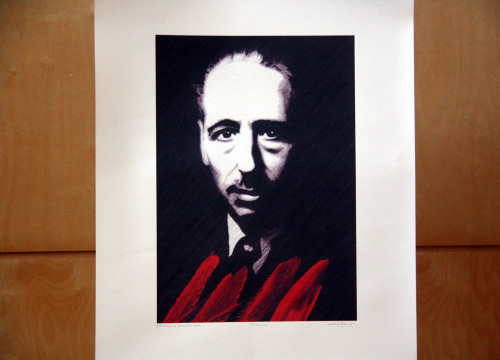 Official poster of the 75th anniversary of Lluis Companys' execution commemoration events