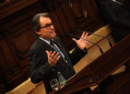 Image of Artur Mas during the first session of the instatement debate this Monday (by ACN)