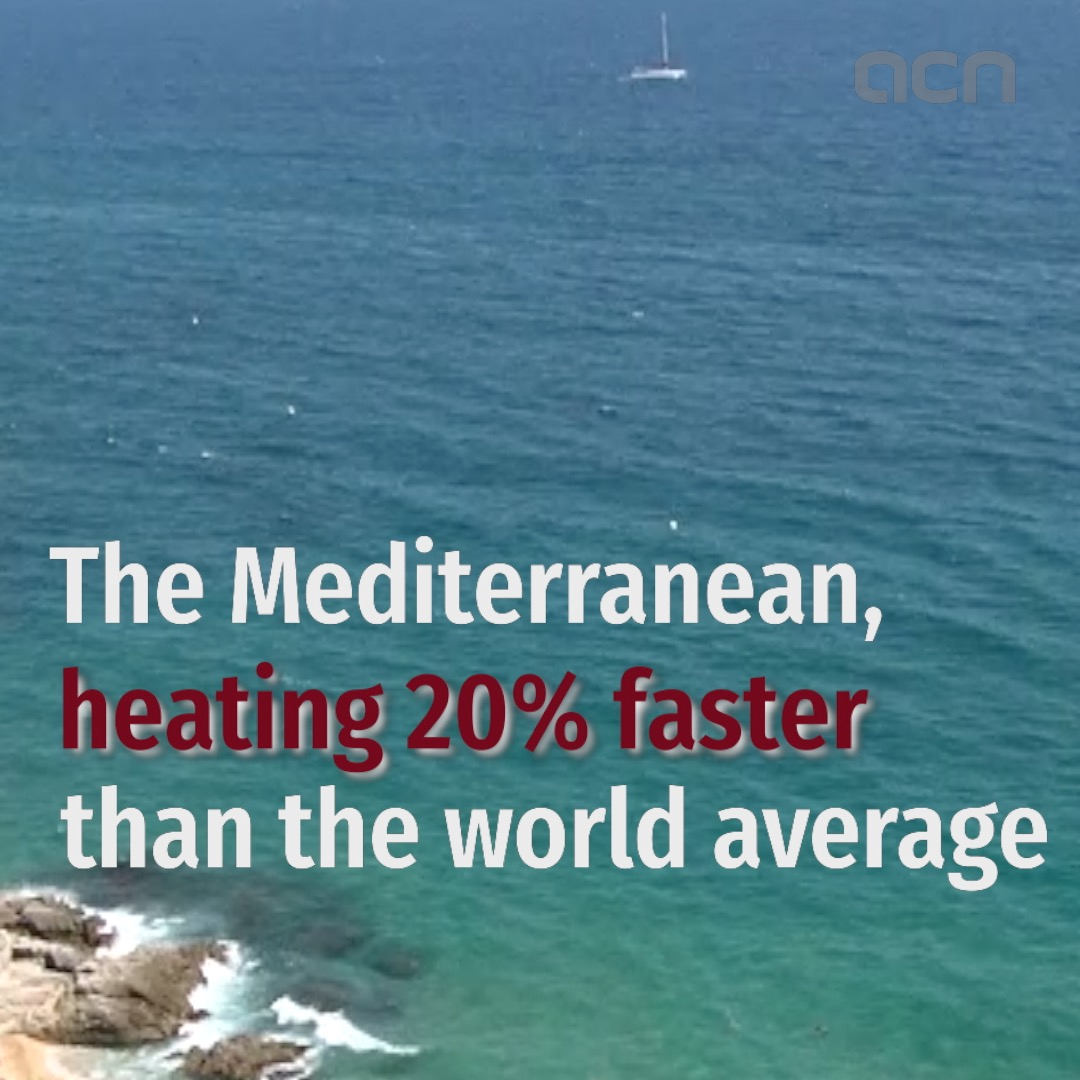 The Mediterranean, heating 20% faster than the world average