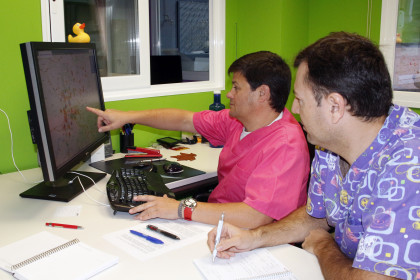 Members of Porcine Sanitation Group developing the new clinique portal (by ACN)