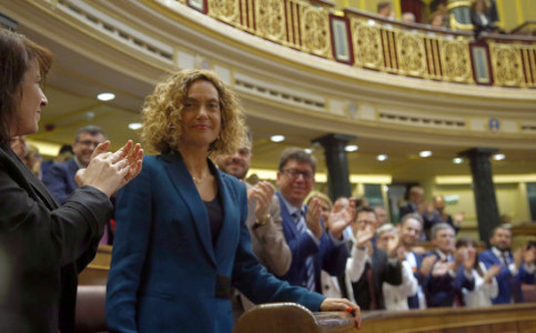 The new Congress speaker Meritxell Batet was elected yesterday