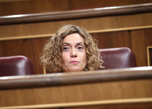 The PSC MP Meritxell Batet during the debate on investiture in the Spanish Parliament the 26th of October (by ACN)