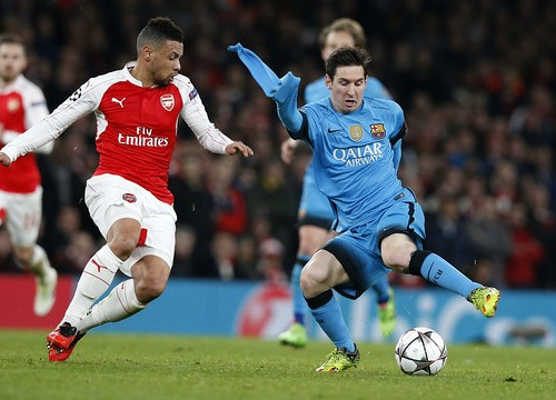 Leo Messi scored both goals tonight at Arsenal (by FCB)