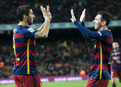 Luis Suárez and Leo Messi were nothing short of magnificent against Valencia on Wednesday night at Camp Nou (by ACN)
