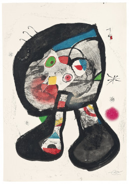 Miró's painting 'Le Fantôme de l'atelier' was auctioned at Christies within the charity project 'Joan Miró & Refugees' (by Christie's Images Ltd)