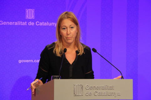 Catalan Government's Spokeswoman, Neus Munté, during a press conference (by ACN)