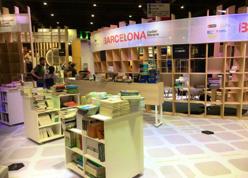 Opening day at the Barcelona stand of the 45th International Book Fair in Buenos Aires on (photo courtesy of Publisher's Guild)