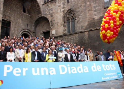 The People's Party (PP) did not participated in the official ceremonies and hold its own one (by R. Garrido)